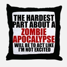 Exciting zombie apocalypse Throw Pillow