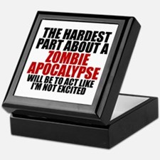 Exciting zombie apocalypse Keepsake Box