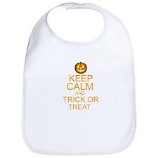 keep calm and trick or treat Halloween Bib