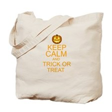 keep calm and trick or treat Halloween Tote Bag