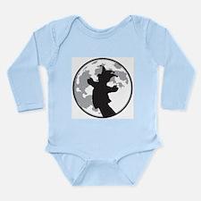 Fool Moon Puppetry Arts logo Long Sleeve Infant Bo