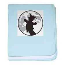 Fool Moon Puppetry Arts logo baby blanket