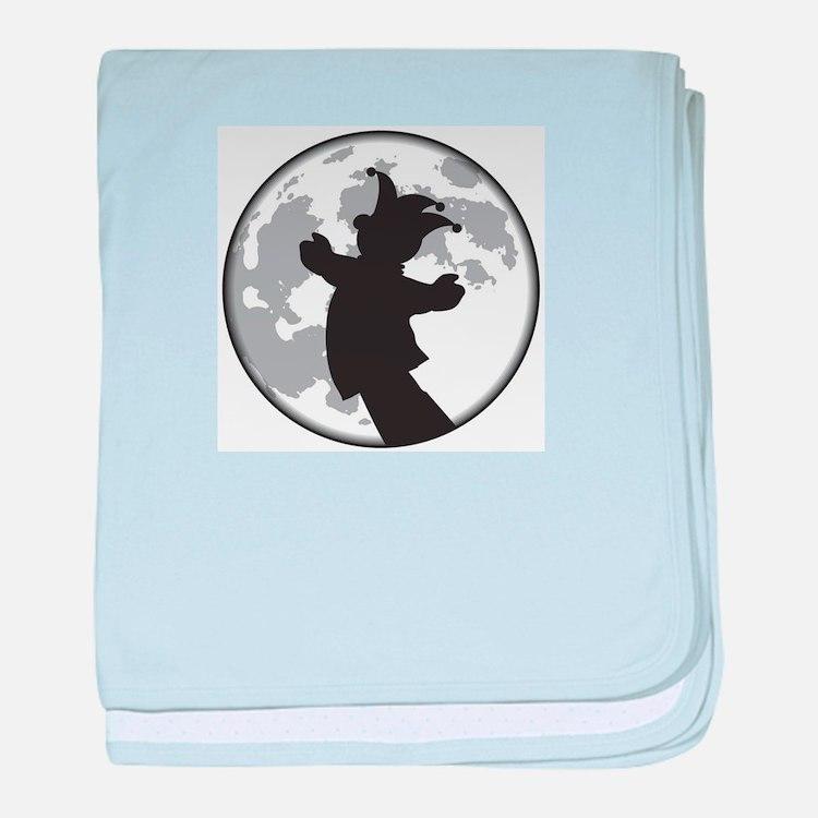 Fool Moon Puppetry Arts logo baby blanket