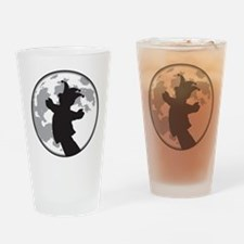 Fool Moon Puppetry Arts logo Drinking Glass