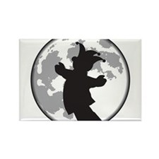Fool Moon Puppetry Arts logo Rectangle Magnet