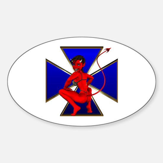 The Girl She Devil Royal Cros Oval Decal