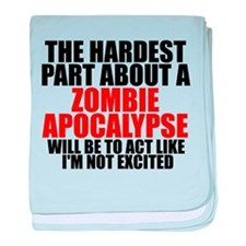 Exciting zombie apocalypse baby blanket