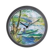 Van Gogh Fishermen and Boats Wall Clock