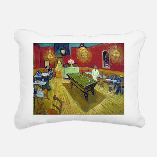 Van Gogh Night Cafe Rectangular Canvas Pillow