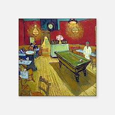 "Van Gogh Night Cafe Square Sticker 3"" x 3"""