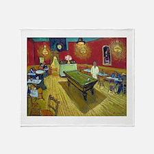 Van Gogh Night Cafe Throw Blanket