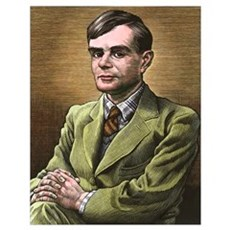 Alan Turing, British mathematician Poster