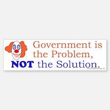 Government is the Problem Bumper Bumper Sticker