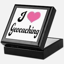 I Love Geocaching Keepsake Box