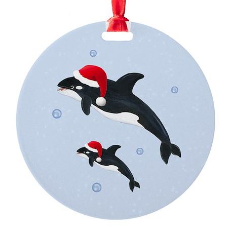 Killer Whale - Christmas Round Ornament