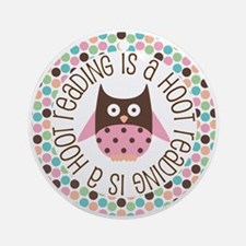 Reading Is A Hoot Ornament (Round)