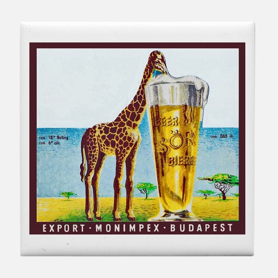 Hungary Beer Label 11 Tile Coaster