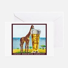 Hungary Beer Label 11 Greeting Card