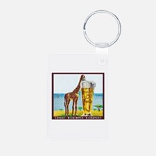 Hungary Beer Label 11 Aluminum Photo Keychain