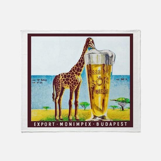Hungary Beer Label 11 Throw Blanket