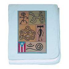 Taino Petroglyphs baby blanket