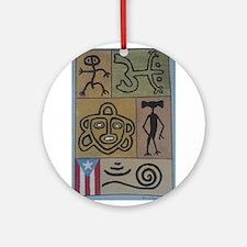 Taino Petroglyphs Ornament (Round)