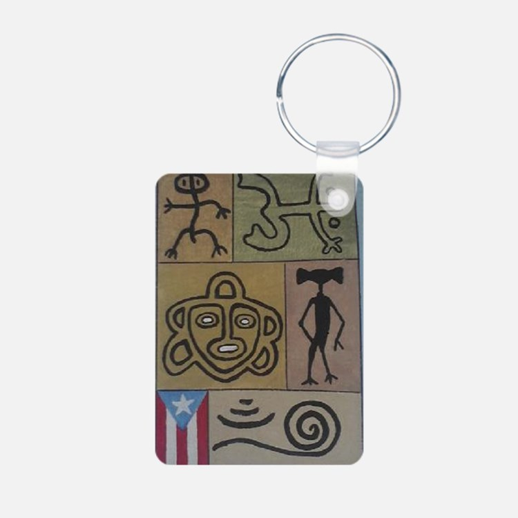 Taino Petroglyphs Keychains
