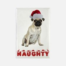 Naughty Pug Rectangle Magnet