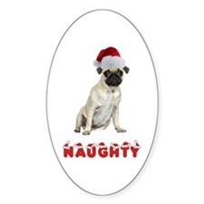 Naughty Pug Decal