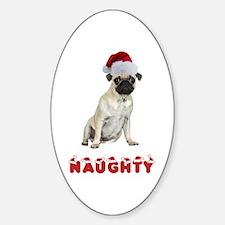 Naughty Pug Decal