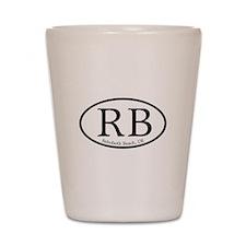 RB Rehoboth Beach Oval Shot Glass