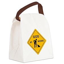 GodatWork.jpg Canvas Lunch Bag