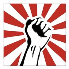 "Revolutionist.jpg Square Car Magnet 3"" x 3"""
