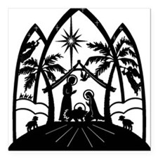 "nativitycene.jpg Square Car Magnet 3"" x 3"""