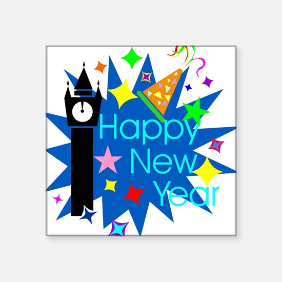 "HappyNewYear.jpg Square Sticker 3"" x 3"""