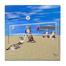 Devon Beach Volleyball Tile Coaster