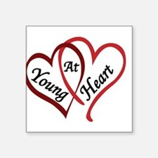 "YOUNGATHEART.png Square Sticker 3"" x 3"""