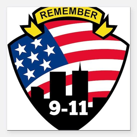 "9-11Icon.jpg Square Car Magnet 3"" x 3"""
