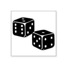 "Dice_PSF.png Square Sticker 3"" x 3"""