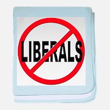 Anti / No Liberals baby blanket