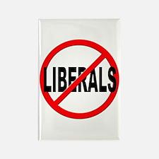 Anti / No Liberals Rectangle Magnet