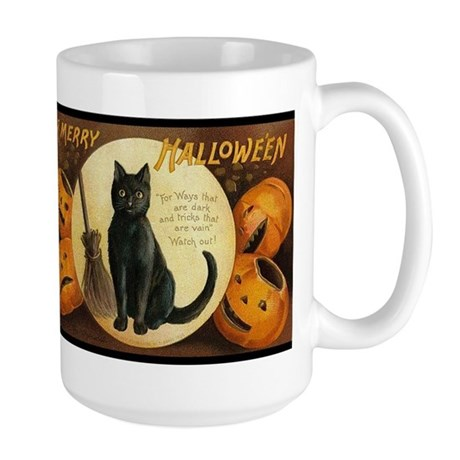 Vintage Merry Halloween Large Mug