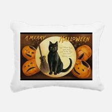 Vintage Merry Halloween Rectangular Canvas Pillow
