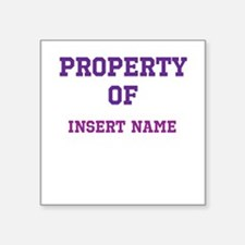 "Customized Property Square Sticker 3"" x 3"""