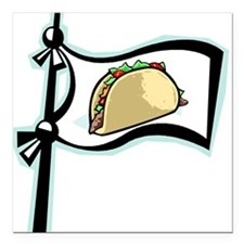 "taco.png Square Car Magnet 3"" x 3"""
