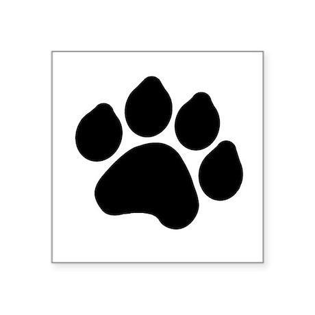 "pawprint.gif Square Sticker 3"" x 3"""