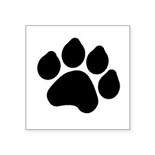 "pawprint.gif Square Sticker 3"" x 3"""
