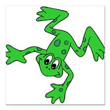 """green-frog.gif Square Car Magnet 3"""" x 3"""""""