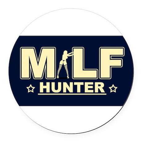 MILFHunt.png Round Car Magnet