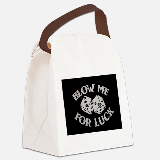 blowme.jpg Canvas Lunch Bag
